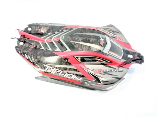 2019 v4 Arrma Typhon 6s BLX Red Black Factory Painted Body Shell w// Body Clips