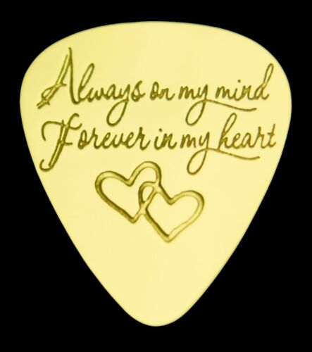 Solid Brass Guitar Pick Bass Acoustic ALWAYS ON MY MIND Electric