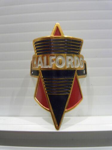 Very rare NOS Perfect condition HALFORDS metal headbadge