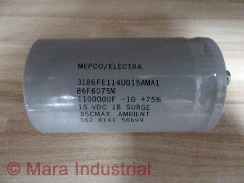 Pack of 3 Details about  /Mepco//Electra 86F6075M Capacitor