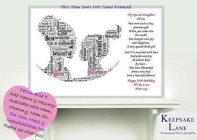 word art picture personalised gift present keepsake Fortnite Son daughter bday