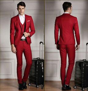 Image Is Loading Custom Best Men Dark Red Groom Tuxedo Peak
