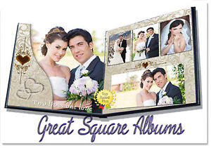 Photoshop Wedding Digital Photo Album Templates Psd 12x12 8x12