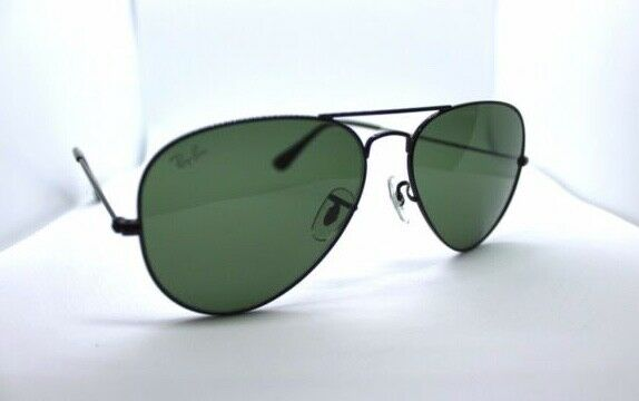 Ray-Ban Aviator Sunglasses RB3025 L2823 58mm Black Frame/G-15 Crystal Green Lens