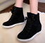 Women-039-s-Winter-High-Top-Sneaker-Lace-Up-Hidden-Wedge-Heel-Ankle-Boots-Shoes thumbnail 5