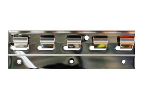 Pvc rayures rideau 10er pack 400mm pendule plaques en acier inoxydable sur brillance poli