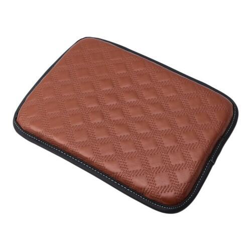 Universal Car SUV Armrest Pad Cover Auto Center Console PU Leather Cushion Mat Q