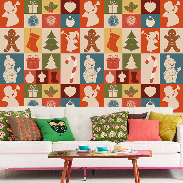 3D Christmas Modern Pattern 55 Wall Paper Wall Print Decal Wall Deco Indoor Wall