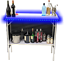 thumbnail 4 - Portable Folding Party Bar w/ Black & Hawaiian Bar Skirts & LED Lights