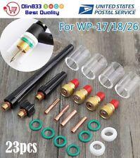 9Pcs Welding Torch Gas Lens Cup 3//32 Collet Kit For TIG WP-17//18//26 TAK18 Set