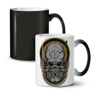Death Rock Music Skull NEW Colour Changing Tea Coffee Mug 11 oz   Wellcoda