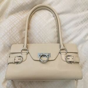 70265de1b632 Image is loading NWT-Salvatore-Ferragamo-Magnolia-Shoulder-Handbag-Purse