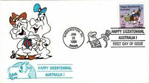 Estados Unidos de América USA 1988 22c Bicentenario australiano liquidación FDC