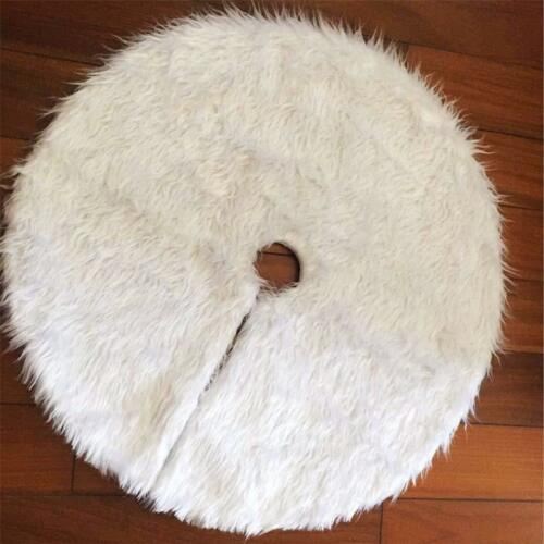 Christmas Tree Skirt Round Carpet Decorations For Home Floor Mat New Year Xmas