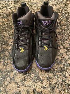Reebok-Mens-Retro-Shaqnosis-Shaq-Basketball-Shoe-LA-Lakers-Gold-Purple-Sz-12