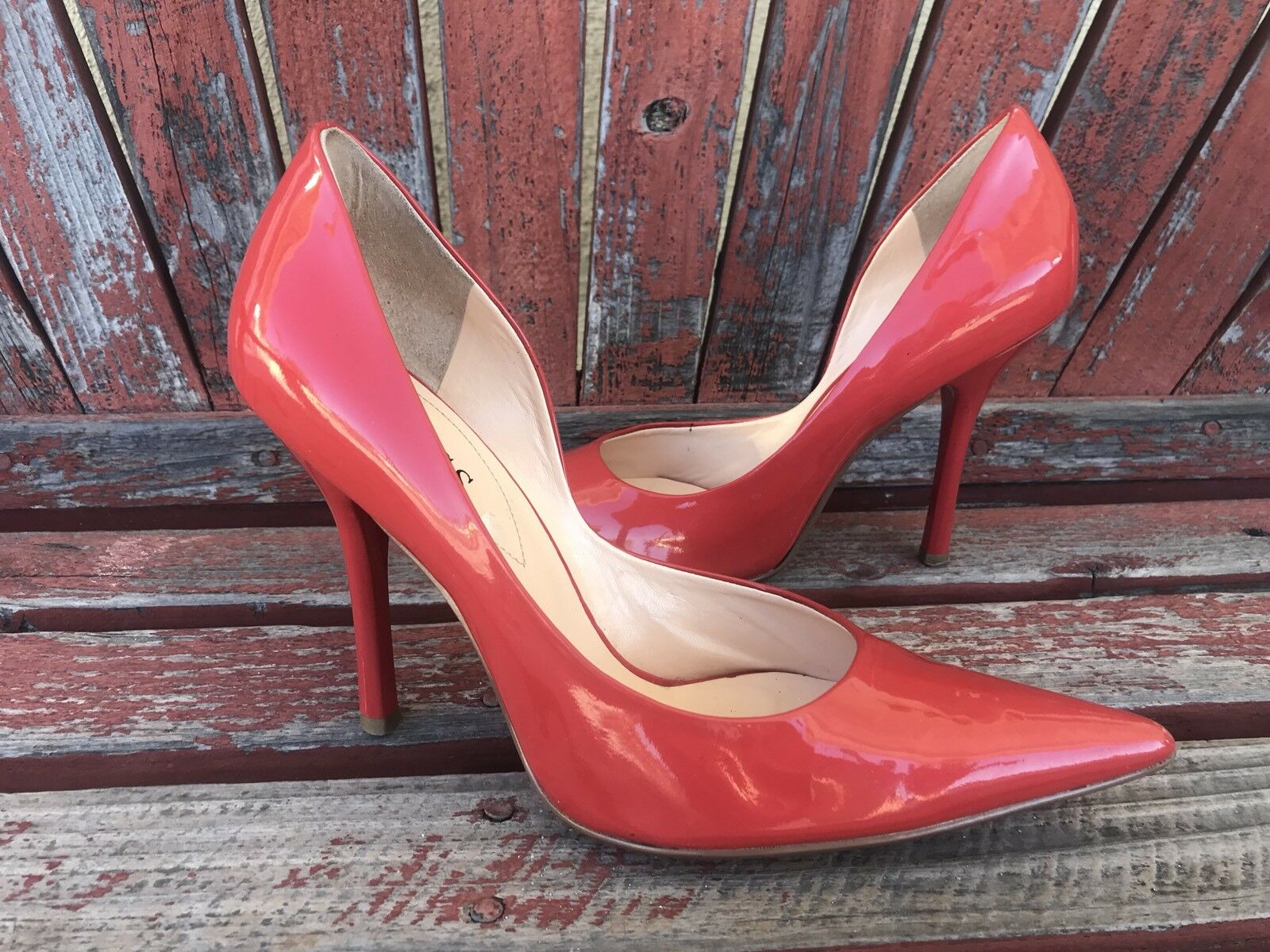 ReD ORanGe EUC 8.5 PaTeNT Leder Pointy Toe CARRIE Stiletto Heels PUMP GuESS