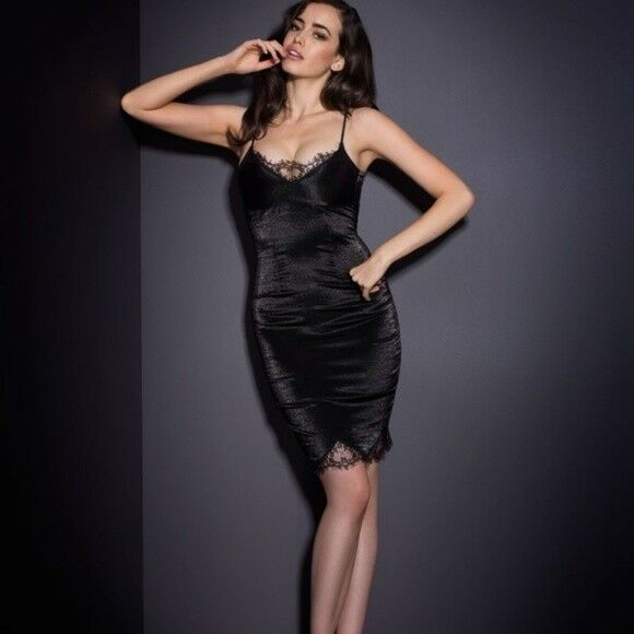 AGENT PROVOCATEUR Devyn  Seda Mezcla Vestido resbalón 10-12 AP4 grande BNWT  precio mas barato