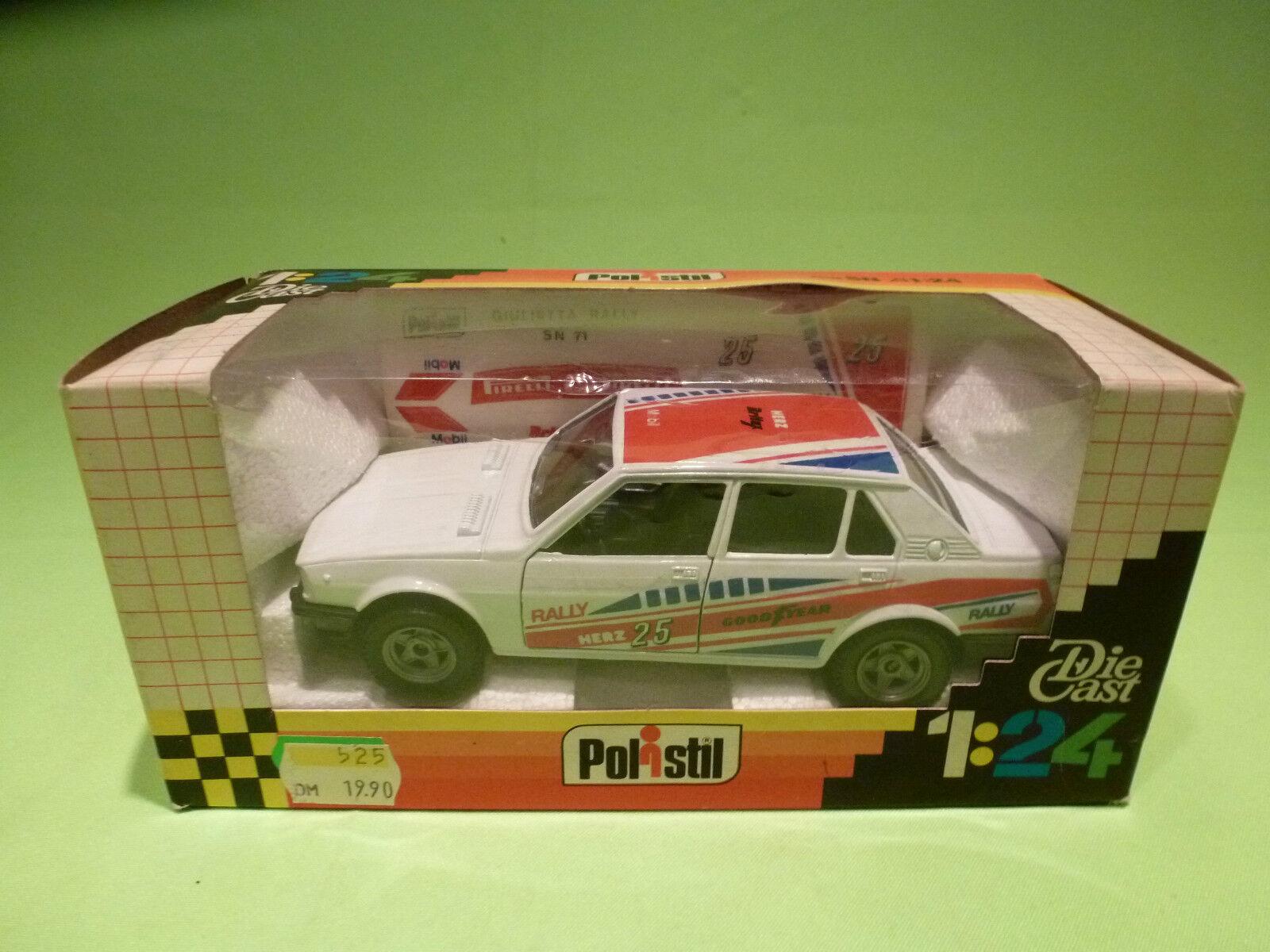POLISTIL 1 24   ALFA ALFA ALFA GIULIETTA RALLY -  IN ORIGINAL BOX -  IN GOOD CONDITION 28cf80