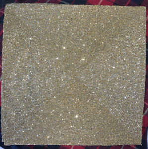 Tahari New Square Bead Beaded Placemat Gold Holiday Christmas Lux Party Charger Ebay