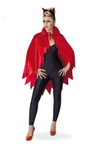 Kostüm für Erwachsene Devil-Cape Umhang rot Samtoptik mit Fetzen 129594013F
