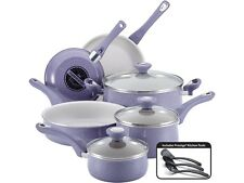 Farberware New Traditions Speckled Aluminum Nonstick 12-Piece Cookware Set, Lave