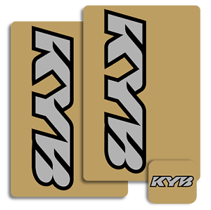Face Lift Unlimited Black KYB Upper Fork Decals 01015 4320-1438