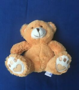ourson-ours-peluche-assis-orange-tout-doux