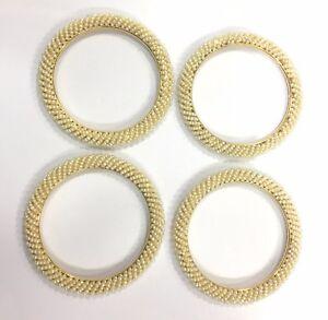 Vintage antique Solid 20K Gold Jewelry Pearl Bracelet Bangle set of