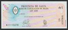 Argentinien / Argentina Salta 1 Austral -1987 P.S2612e (1)