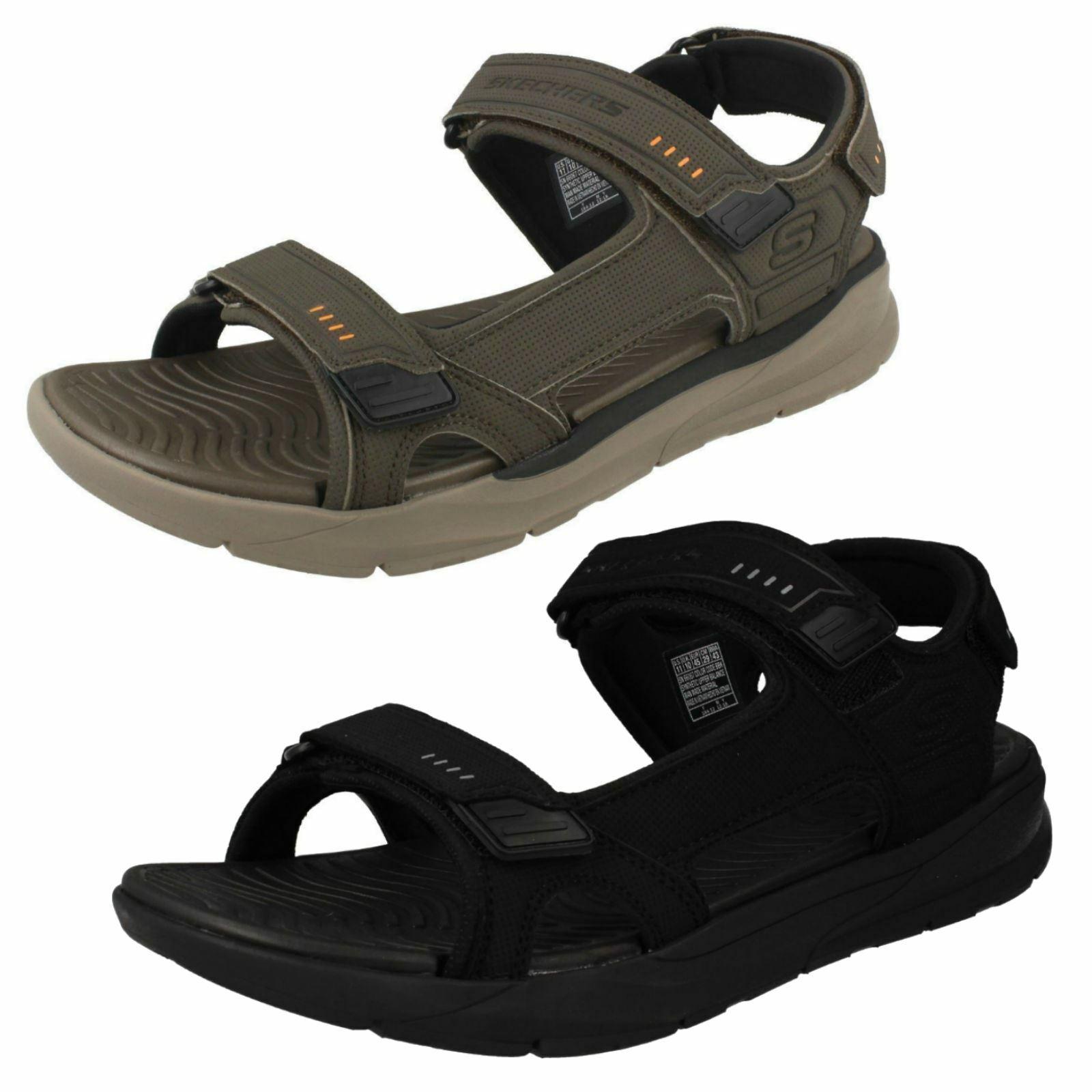 Mens Skechers Relaxed Fit Memory Foam Sandals Senco