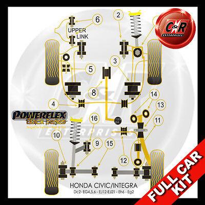 Honda Civic Hatch EG4 – Powerflex Front Lower Shock Mount Bush Kit 1992-1996