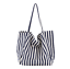 miniature 13 - Women-Large-Canvas-Shopping-Bag-Fashion-Striped-Cloth-Reusable-Tote-Bag
