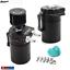 Universal-Aluminum-Baffled-Oil-Catch-Can-Reservoir-Tank-200ml-Breather-Filter thumbnail 3