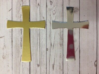 25 Gold Or Silver Cross Religious Card Making Scrapbook Craft Embellishments