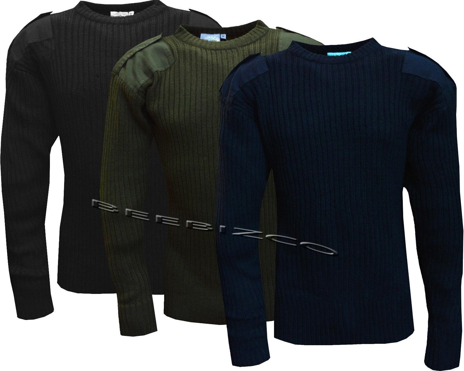 Nouveau Homme Portier Sécurité Armée Otan Militaire Combat Pull Tricot Pullover OTAN Pull Combat a64b17