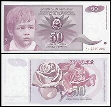 Yugoslavia 50 Dinara 1990 UNC P 104