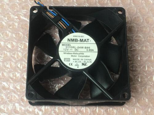 Original 406016-001 Memory Fan NMB 3110RL-04W-B86 4pin for HP XW8400 XW6400