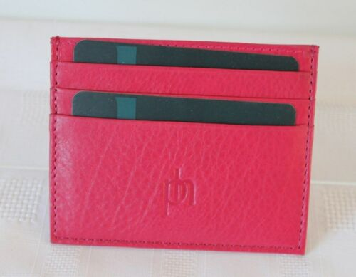 Various Vibrant Colours by Prime hide Slim Leather Credit Card Holder