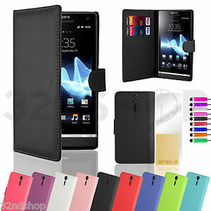 best sneakers 29073 bc100 Details about Sony Xperia S LT26i book wallet case cover quality PU leather  with card slots