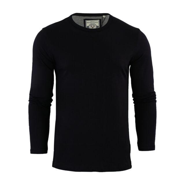 c3e00cb2e Mens T-shirt by Brave Soul Prague Cotton Long Sleeved Crew Neck ...
