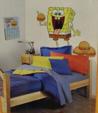 "SPONGEBOB SQUAREPANTS wall stickers MURAL 7 big decals hamburgers 39"" tall decor"