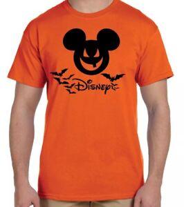 bcd056ae DISNEY Halloween Mickey Mouse~ Men's XL ~ T Shirt~Orange~NWT | eBay