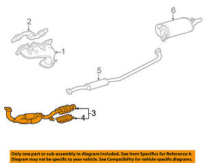 s l300 toyota oem 2001 camry 3 0l v6 exhaust system front pipe 1741020360