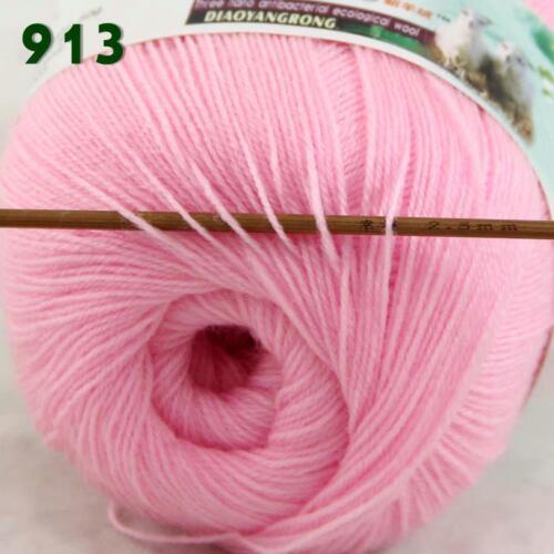 C 1Skeinx50g Thin Acrylic Wool Cashmere Crochet Hand Knitting Knitwear Yarn 13