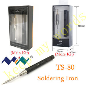 Details about TS80 Mini New Smart Portable Digital Soldering Iron Tool with  plug Type C 9V