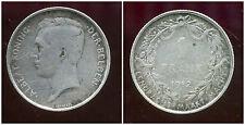 BELGIQUE 1 franc 1912   ARGENT     ( der belgen   )