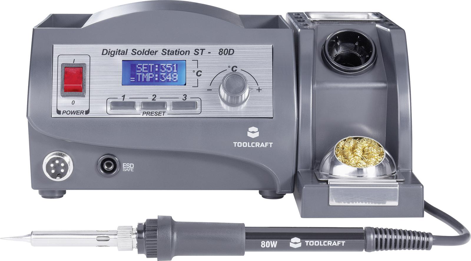 TOOLCRAFT Lötstation digital 80W ST-80D +150 bis +450°C