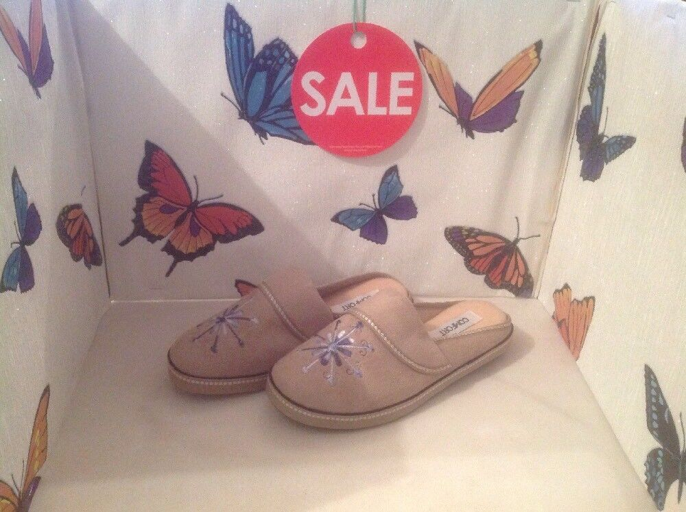 Lovely Ladies Beige Mules, Size 4 New Shop Clearance