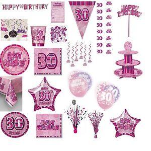 30 Geburtstag Deko Girlanden Konfetti Tischdeko Party Pink Ebay