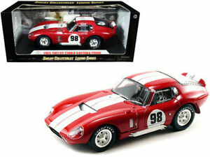 1965 SHELBY COBRA DAYTONA COUPE #98 RED 1:18 SCALE BY SHELBY COLLECTIBLES SC131